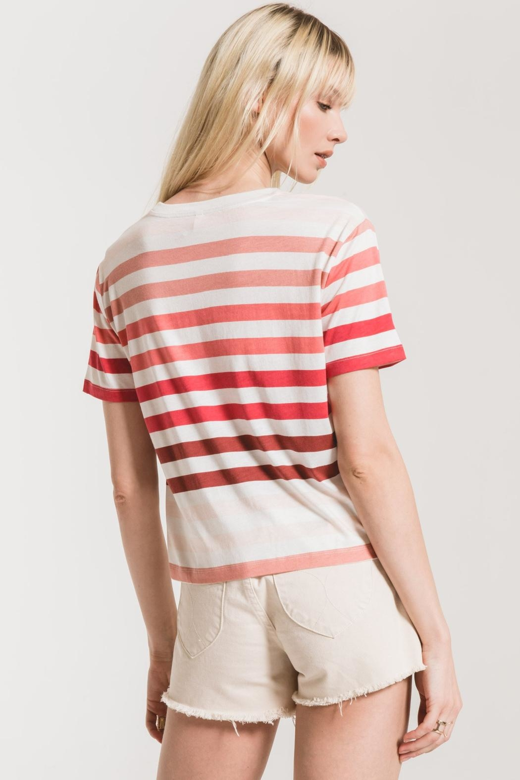 Z Supply  Rainbow Stripe Tee - Front Full Image