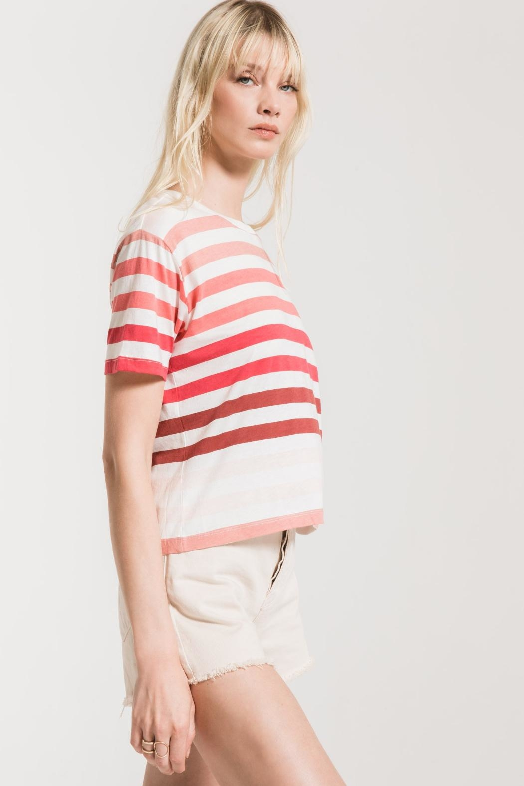 Z Supply  Rainbow Stripe Tee - Side Cropped Image