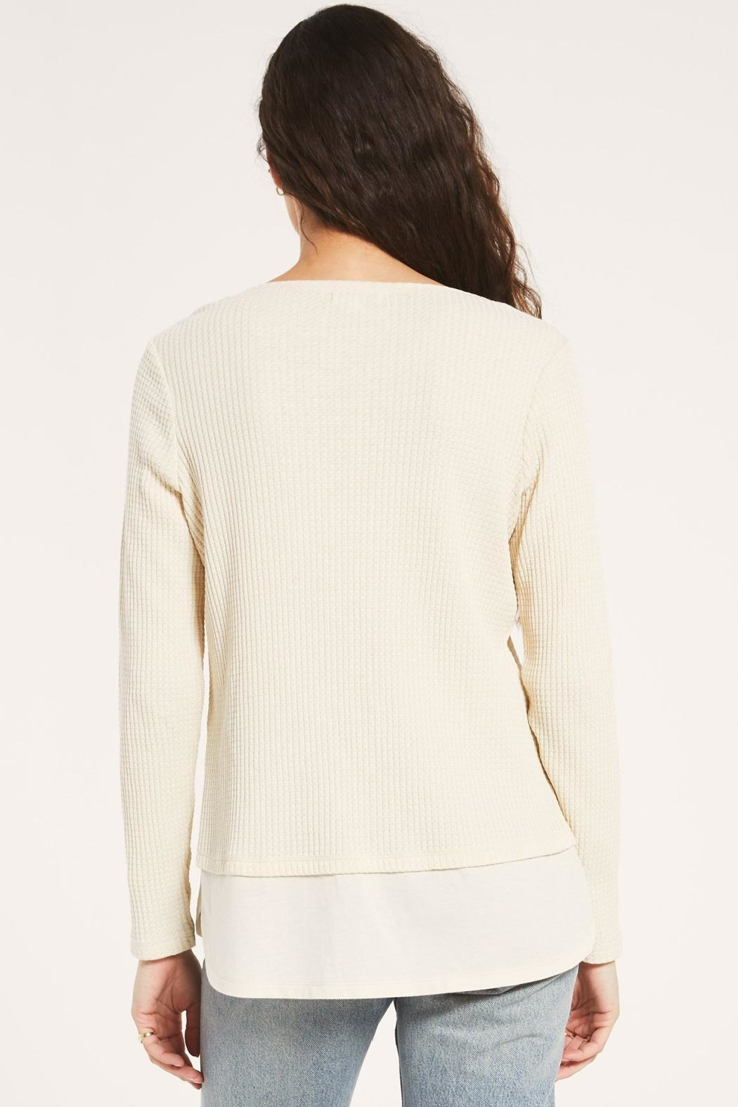 z supply Raine Thermal Tunic - Back Cropped Image
