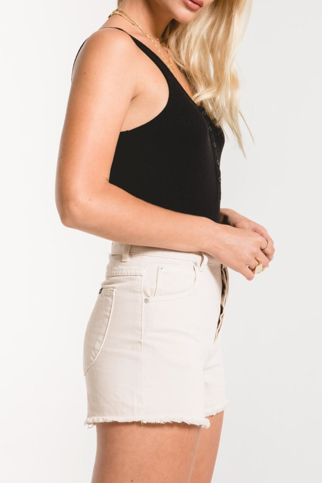 z supply Rib Tank Bodysuit - Back Cropped Image