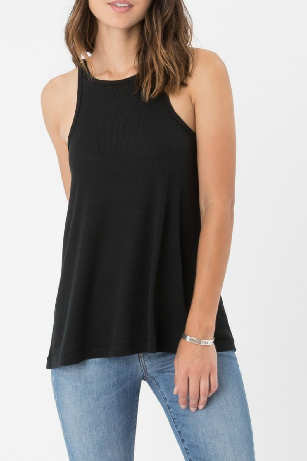 z supply Ribbed Racerback Tank Top - Front Cropped Image
