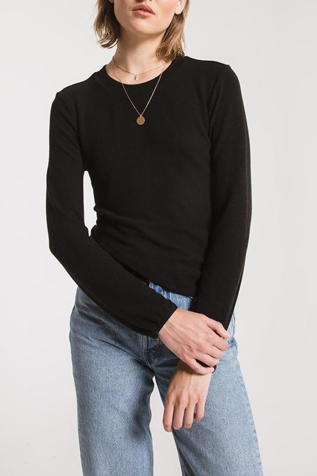 z supply Runched Long-Sleeve Top - Main Image