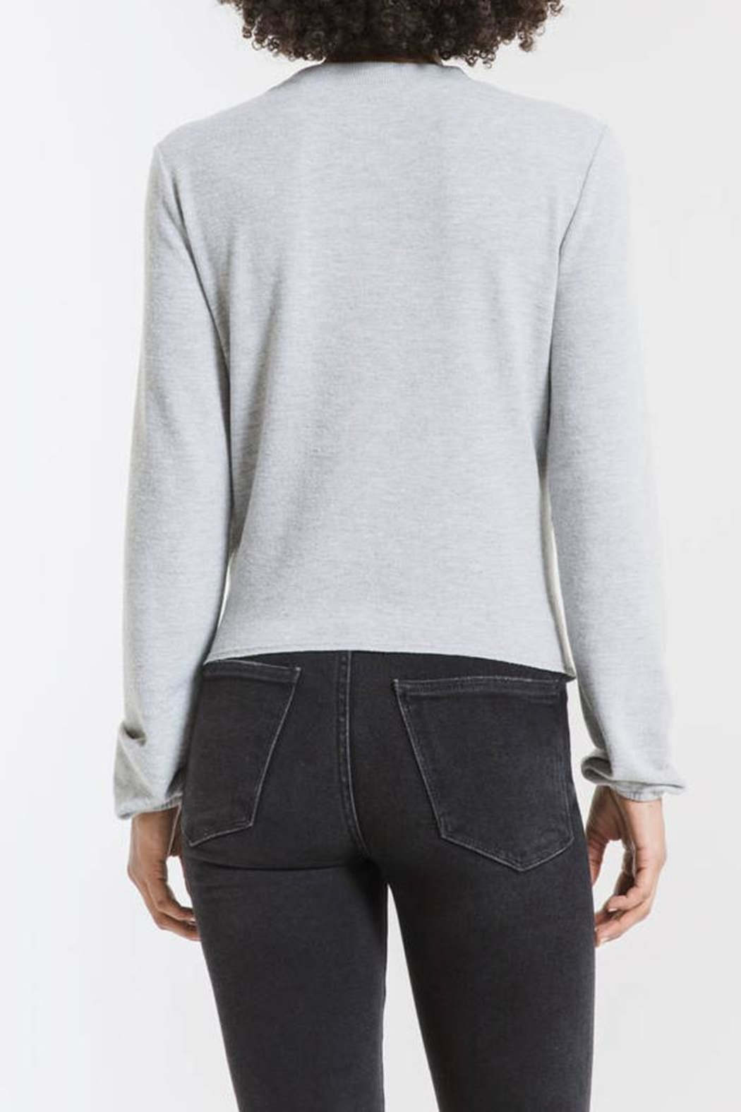 z supply Runched Long-Sleeve Top - Back Cropped Image