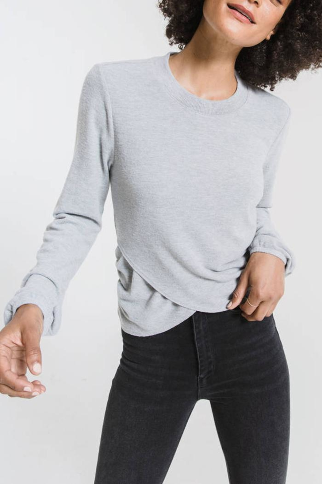 z supply Runched Long-Sleeve Top - Front Cropped Image