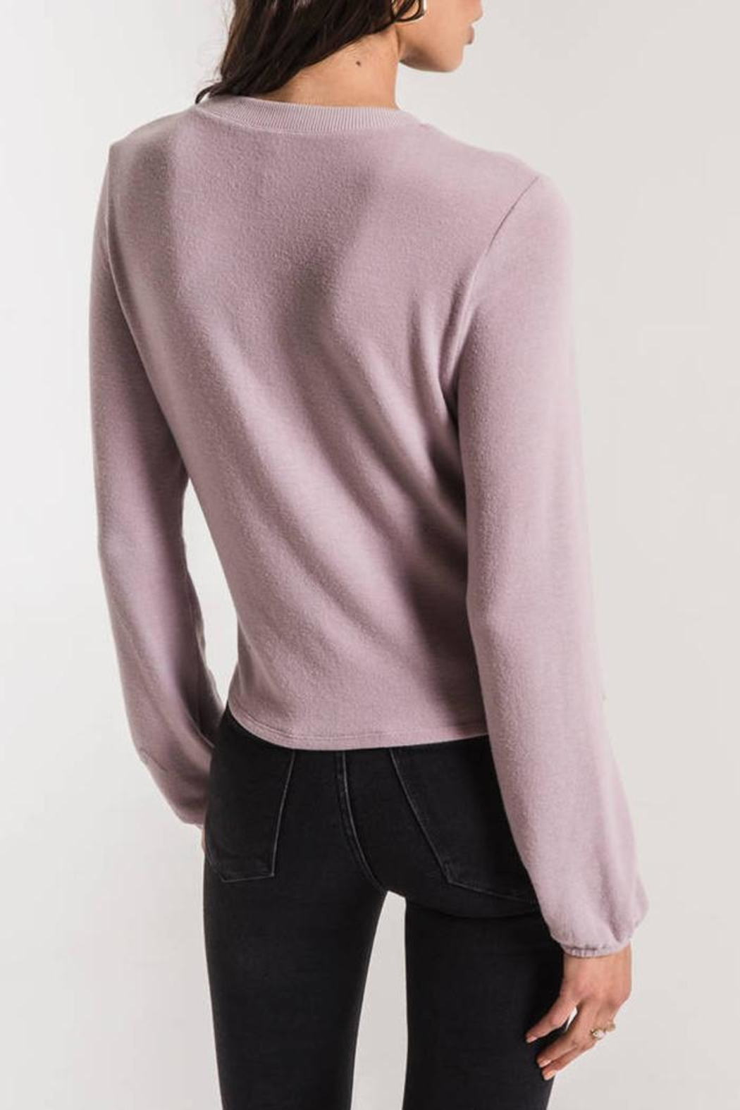 z supply Runched Long-Sleeve Top - Side Cropped Image