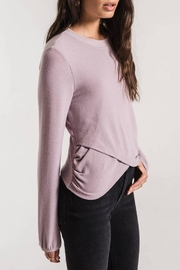 z supply Runched Long-Sleeve Top - Front full body