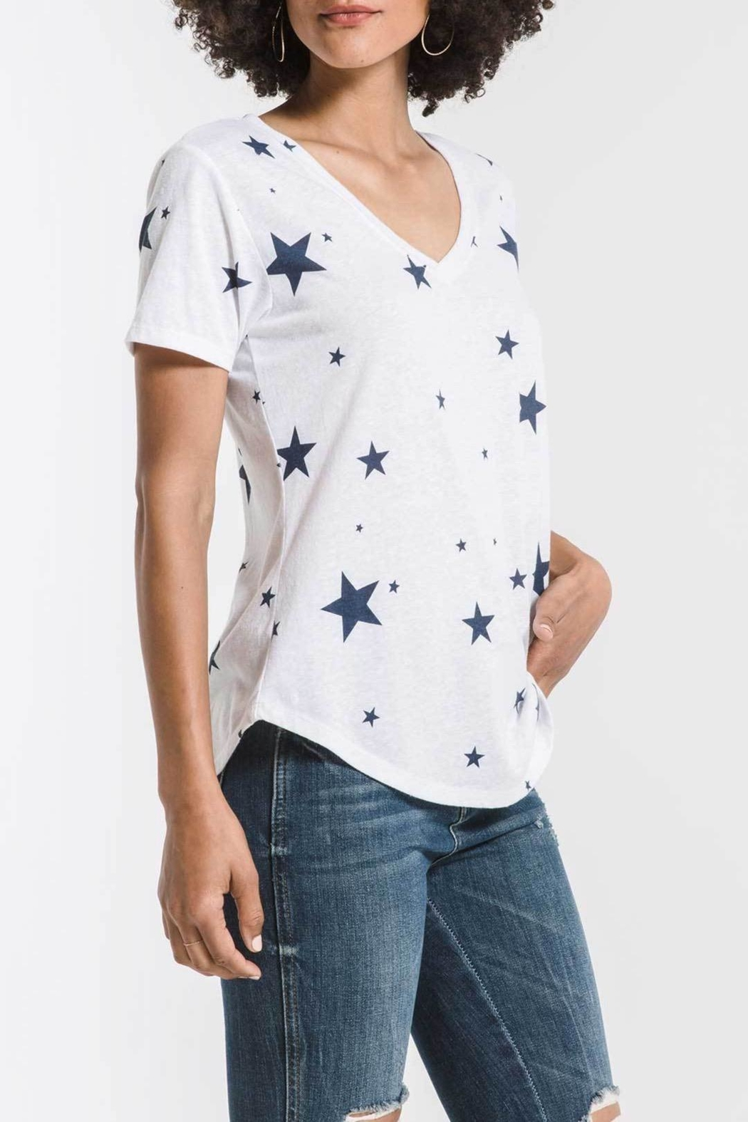 z supply Scatter Star Tee - Side Cropped Image