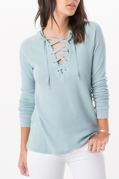 Shoptiques Product: Seafoam Hooded Thermal