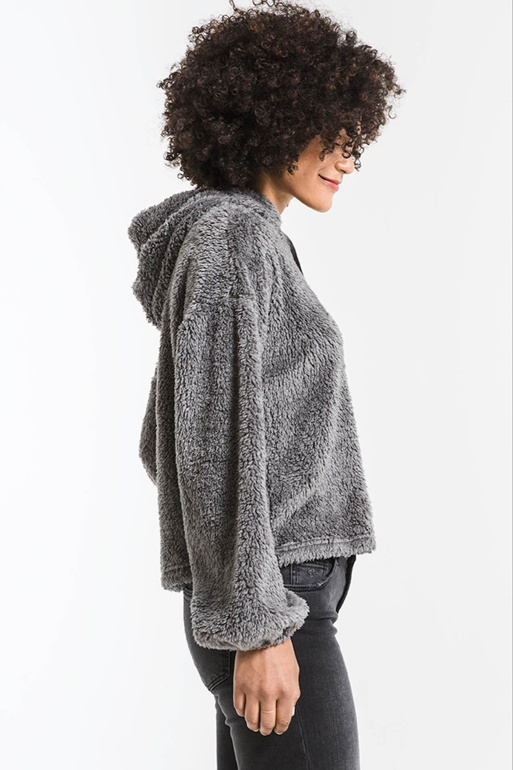 z supply Sherpa Pullover Hoodie - Front Full Image