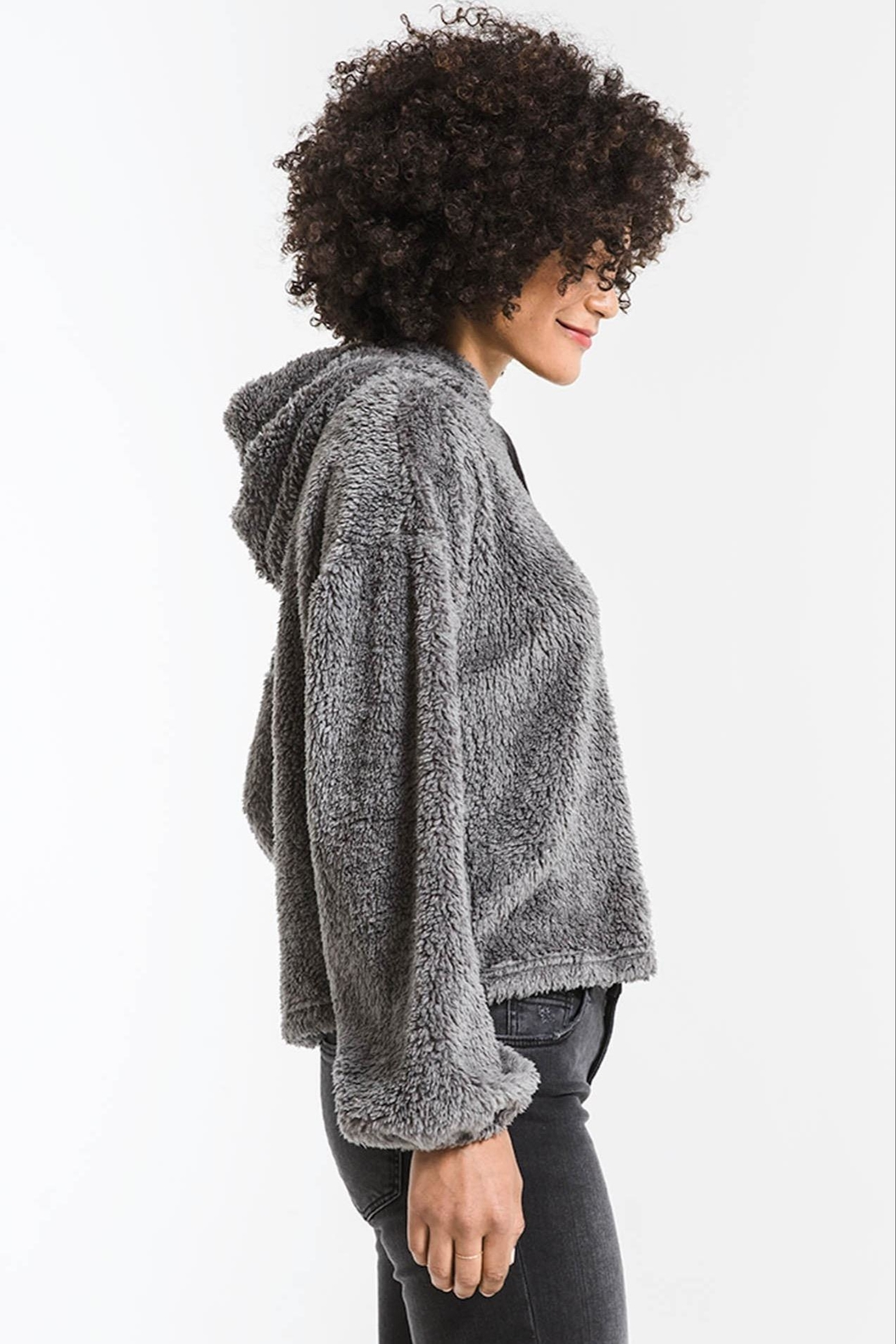 z supply Sherpa Pullover Hoodie - Side Cropped Image