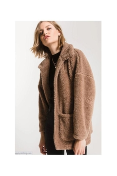 Z Supply  Sherpa Teddy Bear Coat- Toffee - Product List Image