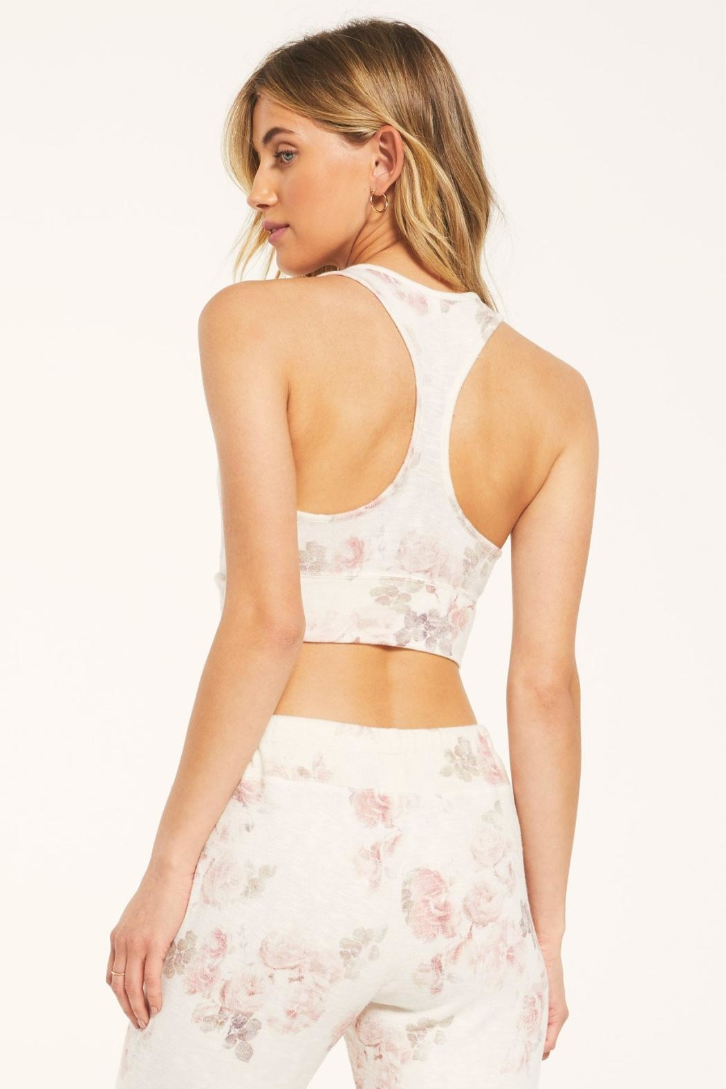 Z Supply  Sia Floral Tank Bra - Front Full Image