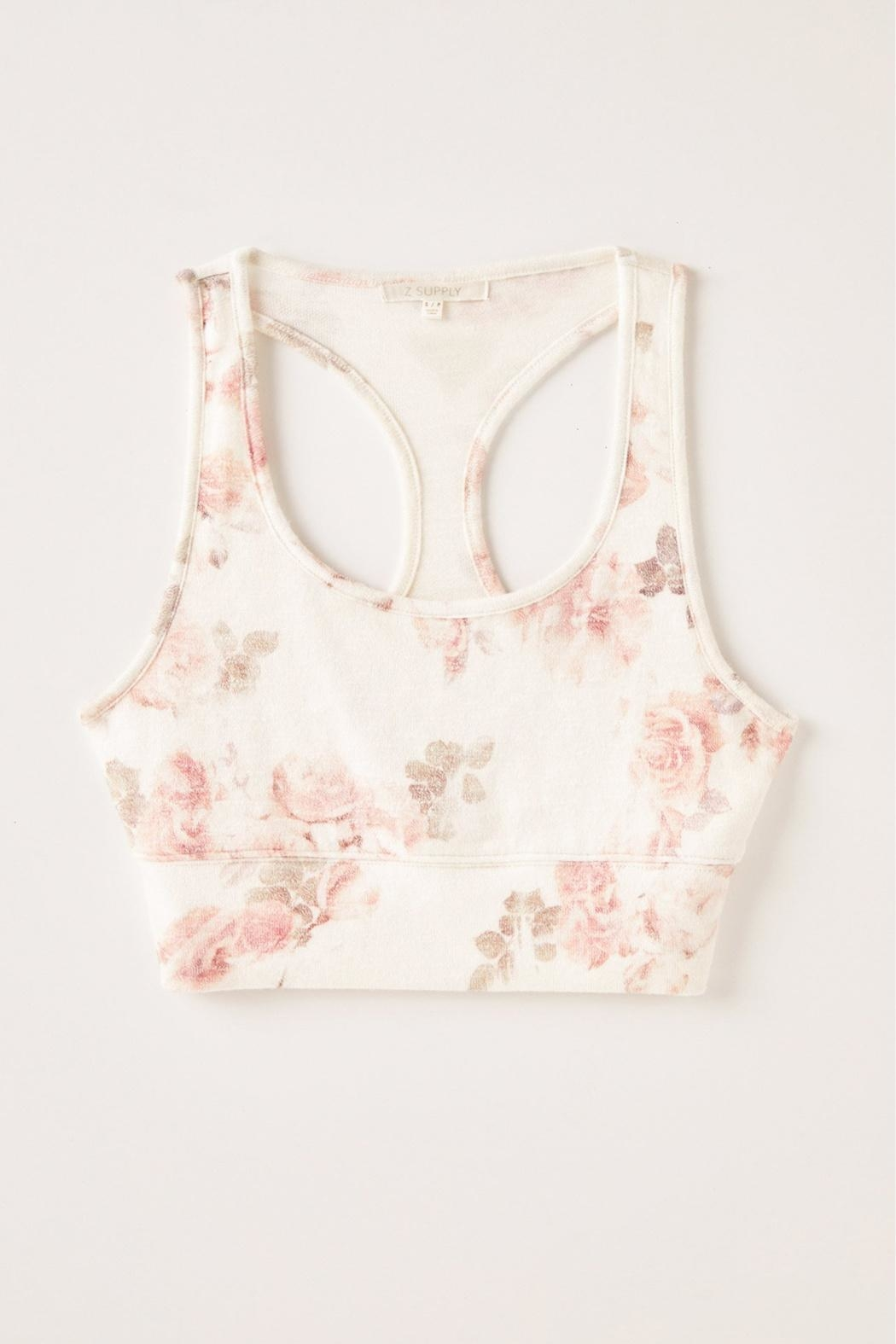 Z Supply  Sia Floral Tank Bra - Side Cropped Image