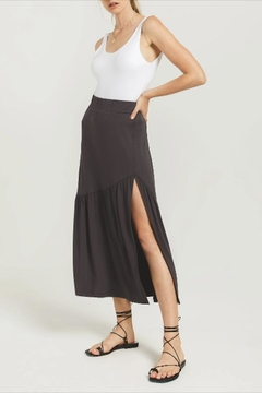 Z Supply  Side-Slit Midi Skirt - Product List Image