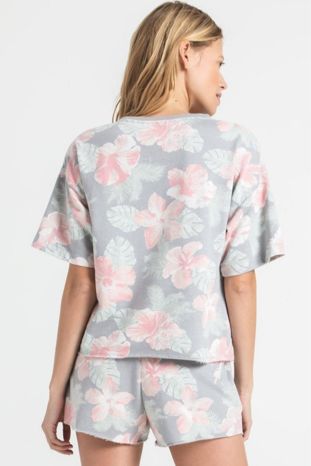 z supply Sione Floral Tee - Front Full Image