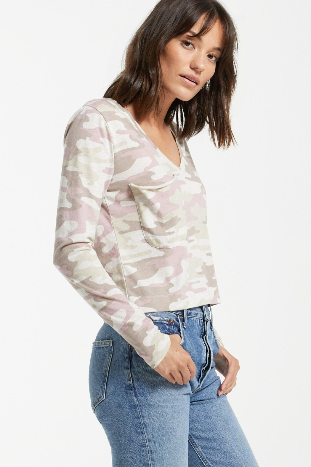 z supply Skimmer Camo Long-Sleeve - Side Cropped Image