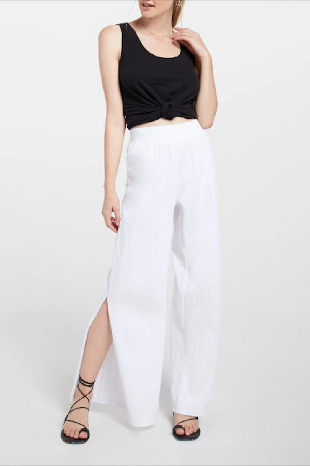 z supply Slitted Wide-Leg Pant - Main Image