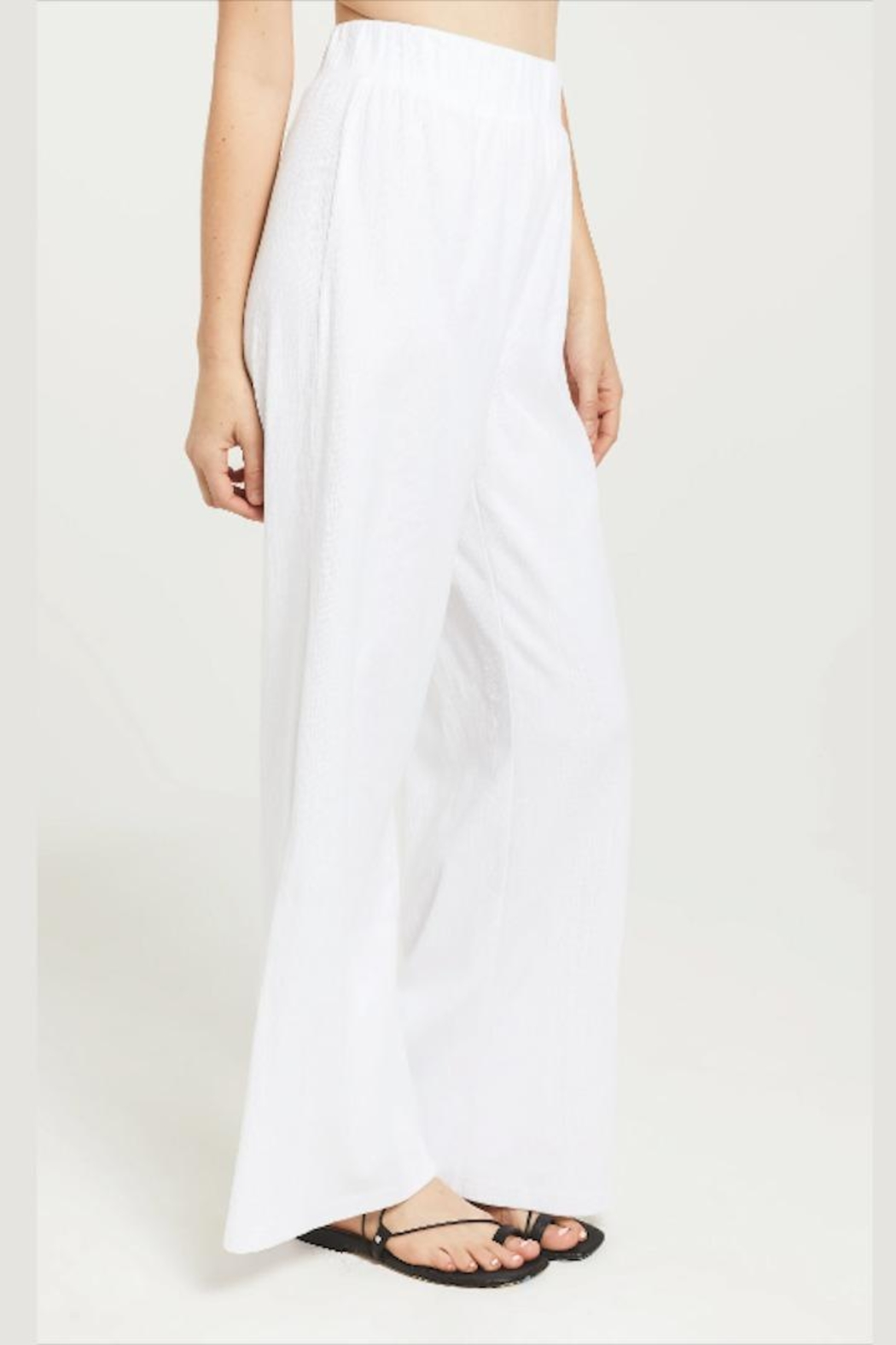 z supply Slitted Wide-Leg Pant - Back Cropped Image