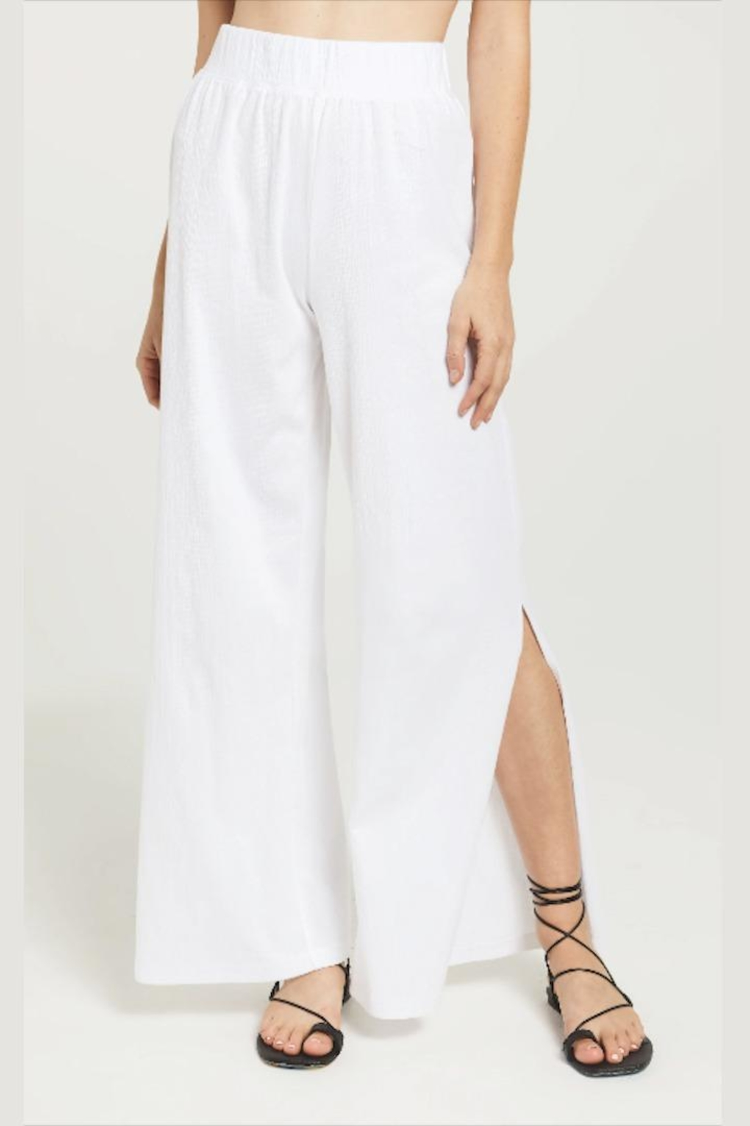 z supply Slitted Wide-Leg Pant - Side Cropped Image