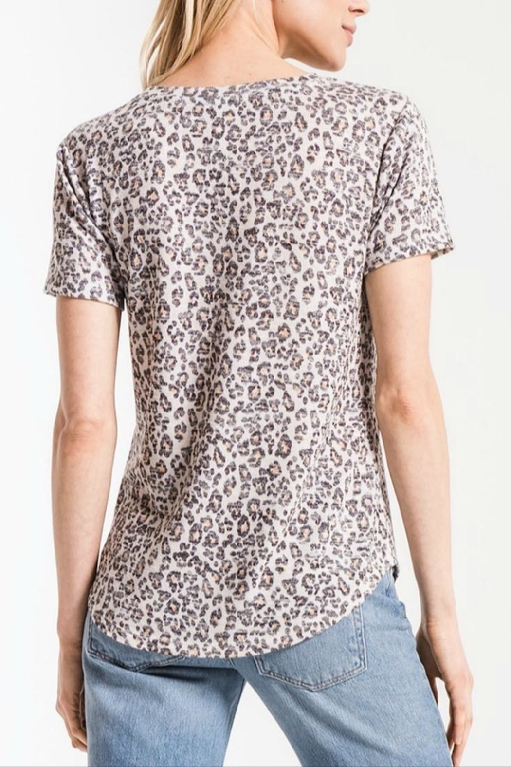 z supply Soft Leopard Tee - Front Full Image