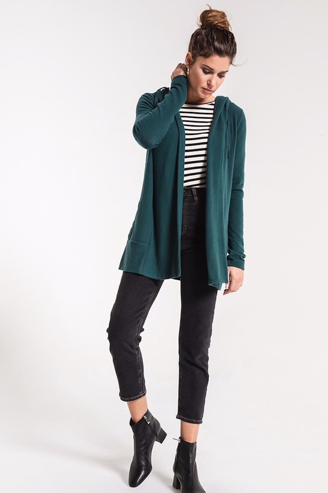 z supply Softspun Open Cardigan - Front Cropped Image