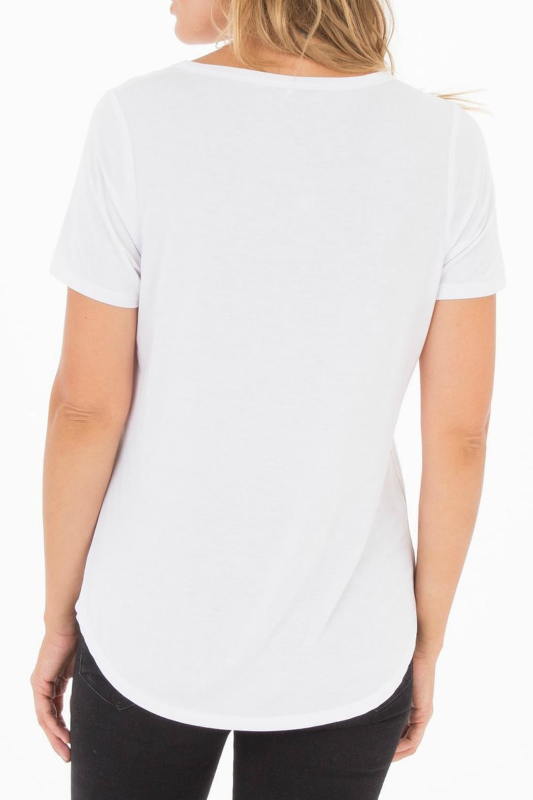 z supply Split Neck Tee - Side Cropped Image
