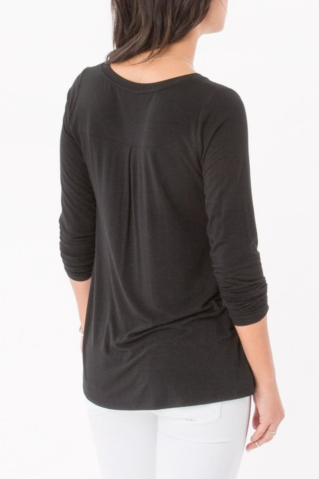 z supply Split Neck Top - Side Cropped Image