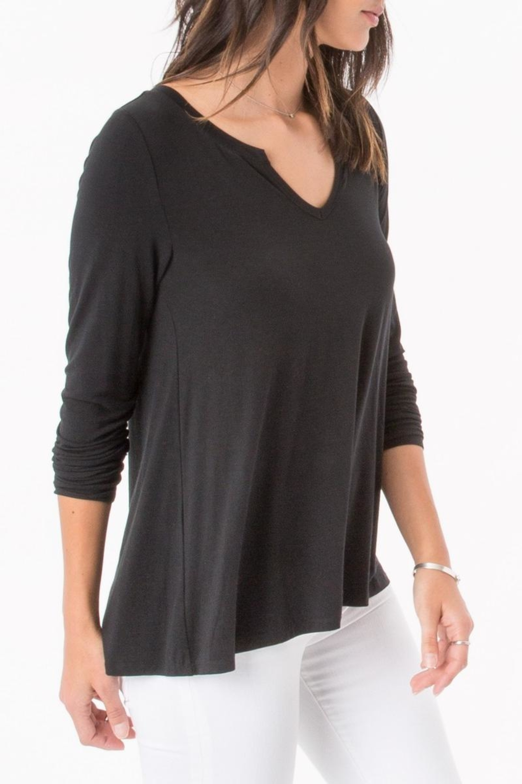 z supply Split Neck Top - Front Full Image