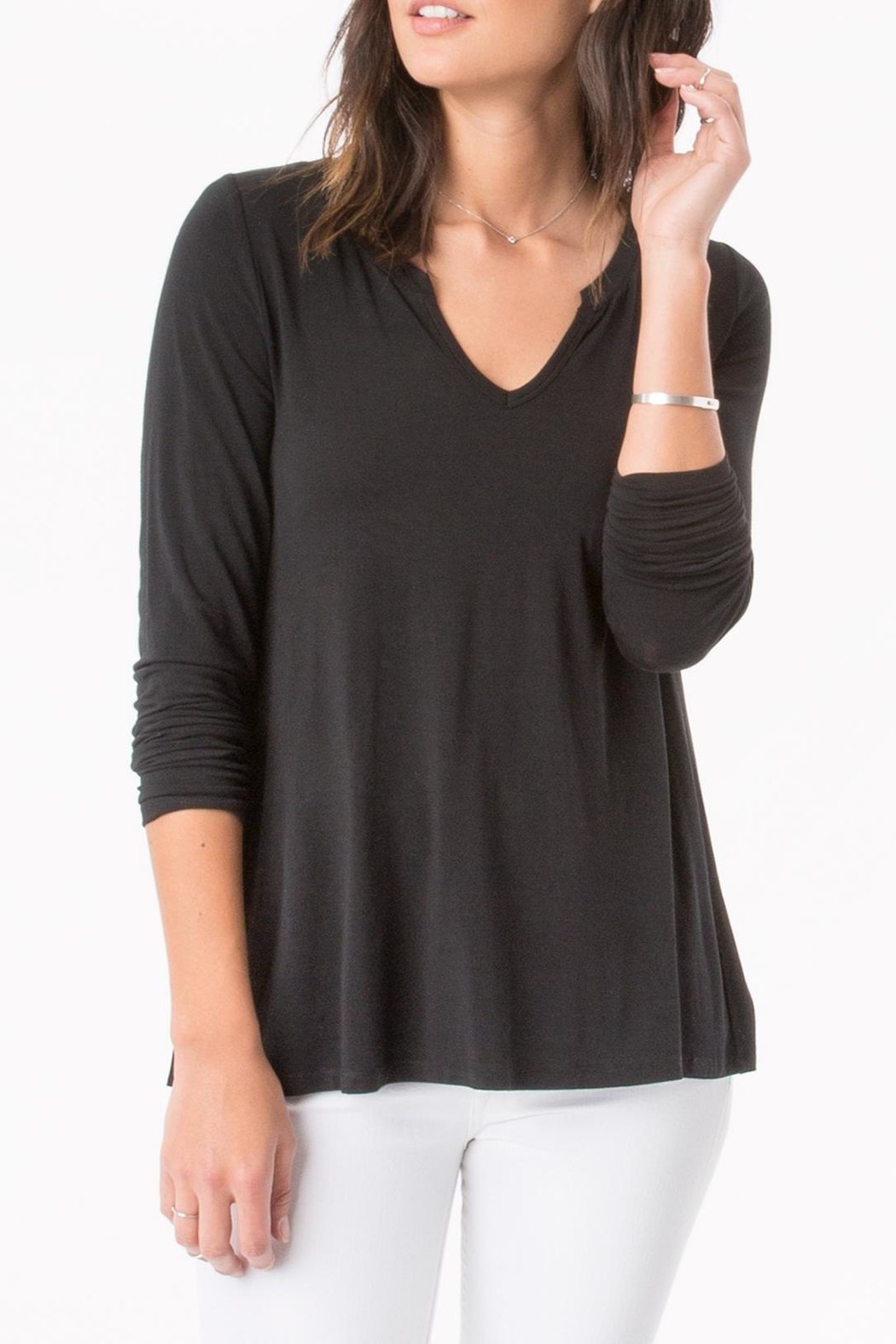 z supply Split Neck Top - Main Image