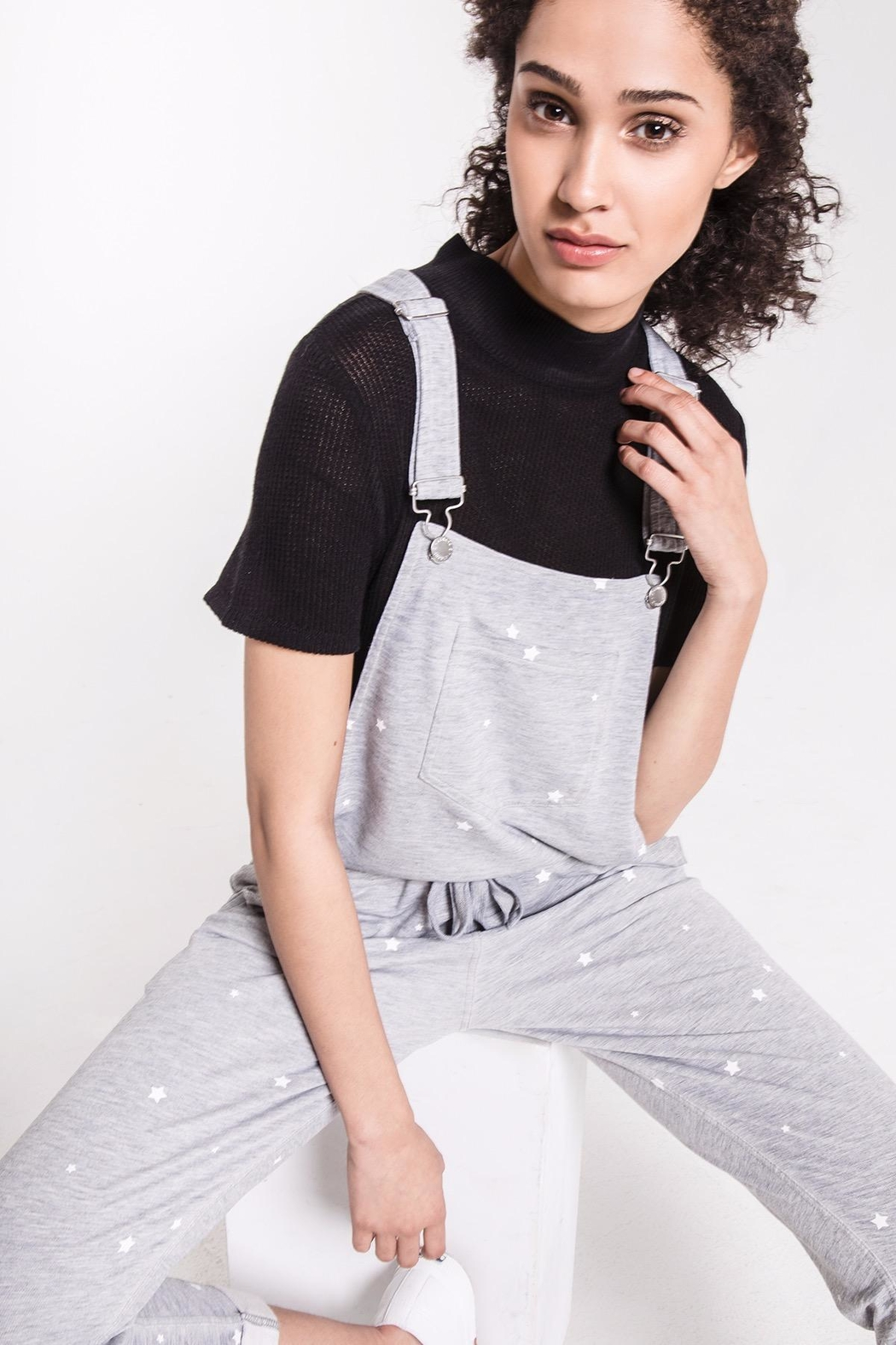 z supply Star Print Overalls - Back Cropped Image
