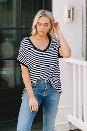 z supply Striped Boyfriend V-Neck - Product Mini Image