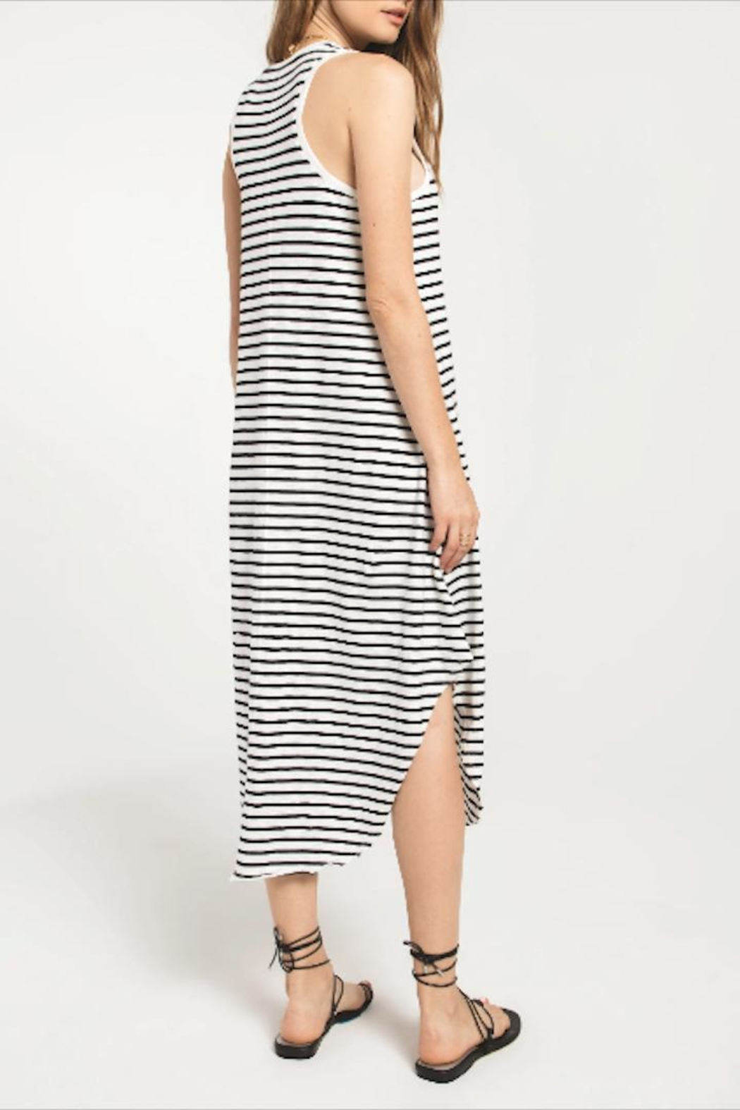 z supply Striped Tank Dress - Front Full Image
