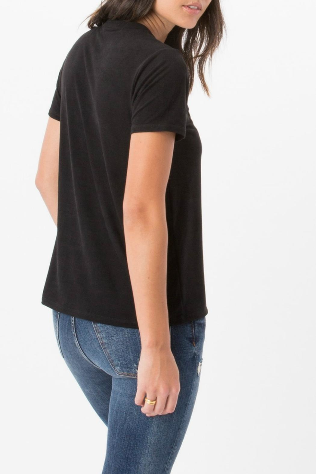 z supply Suede Lace Up Top - Side Cropped Image