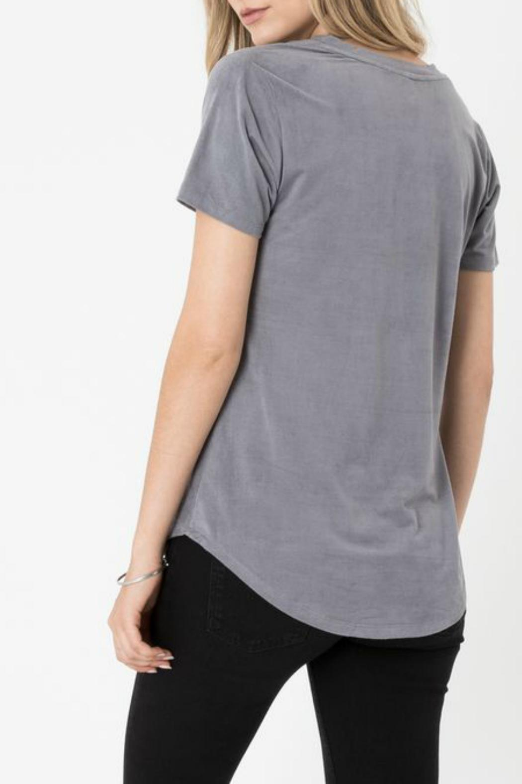 z supply Suede Pocket Tee - Front Full Image