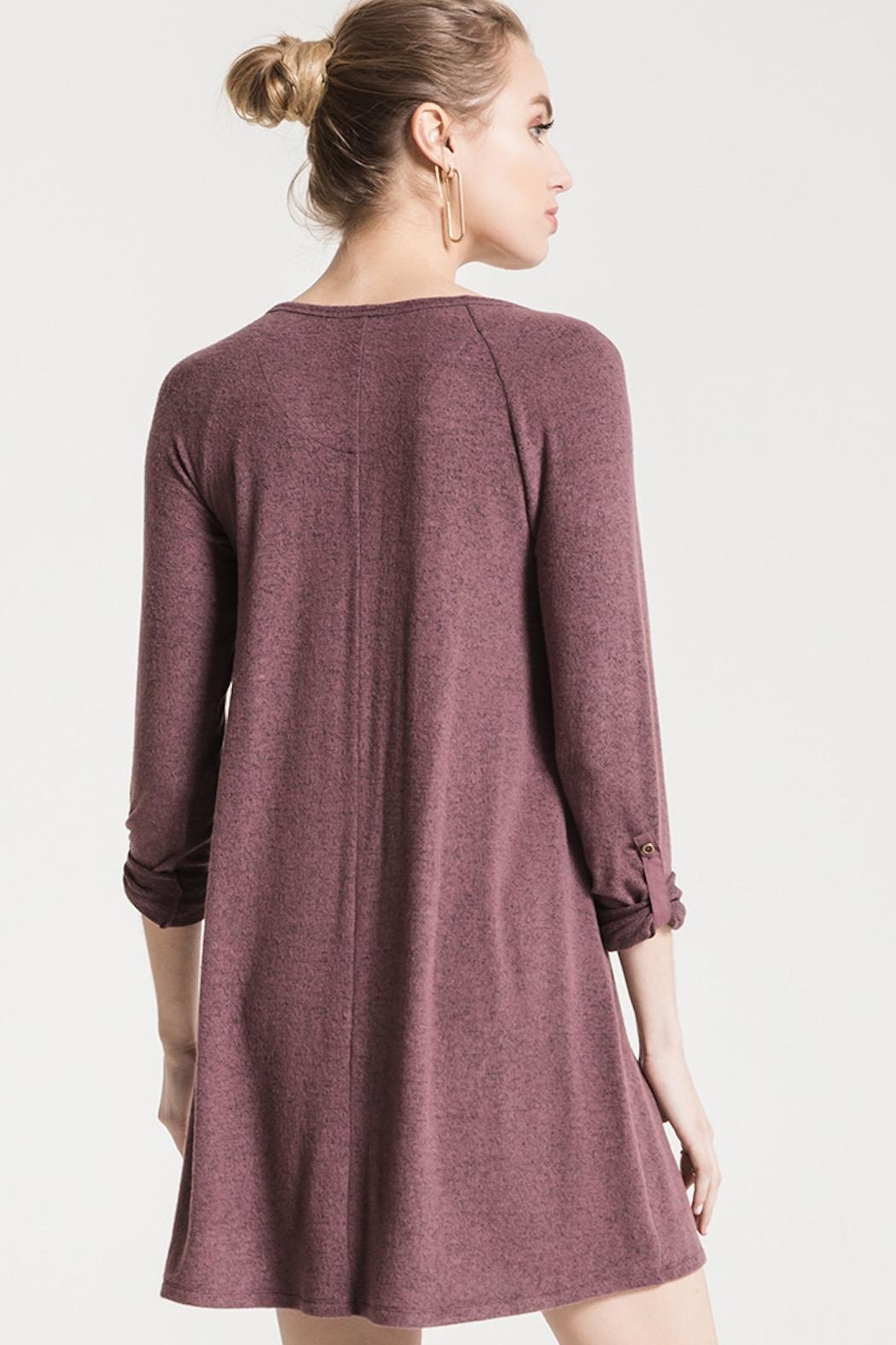 z supply Sweater Henley Dress - Side Cropped Image