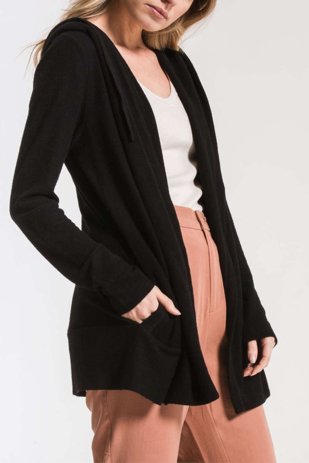 z supply Sweater Knit Cardigan - Side Cropped Image