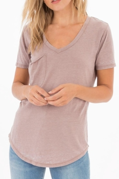 Shoptiques Product: Taupe Pocket Tee