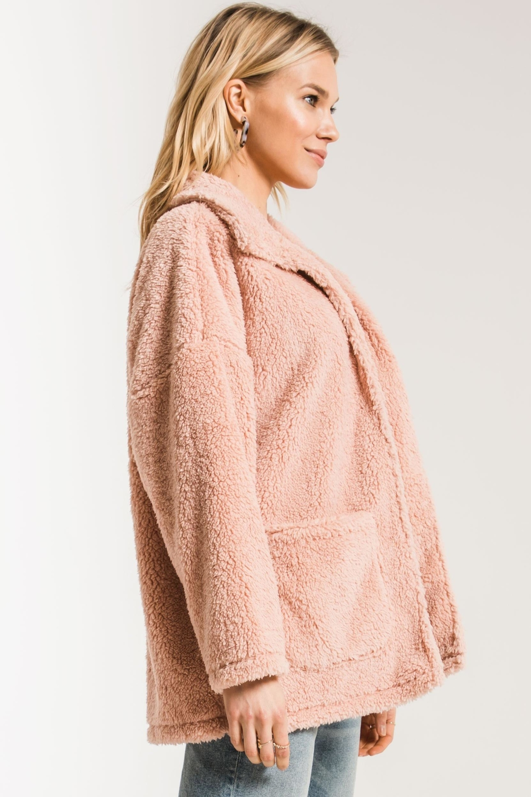 z supply Teddy Bear Coat - Side Cropped Image
