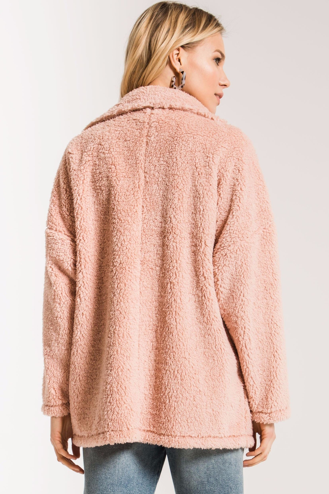 z supply Teddy Bear Coat - Back Cropped Image
