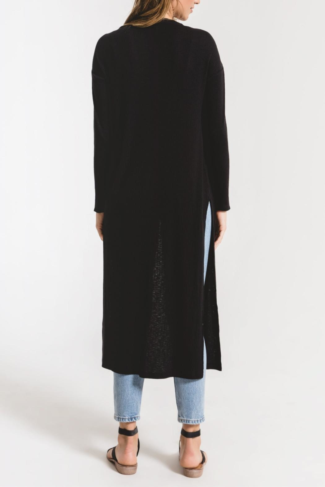 z supply Textured Rib Duster Cardigan - Back Cropped Image