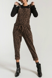 z supply The Leopard Overalls - Front cropped