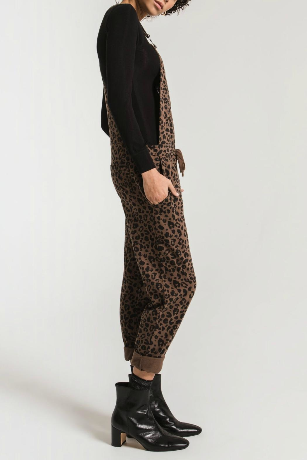 z supply The Leopard Overalls - Side Cropped Image