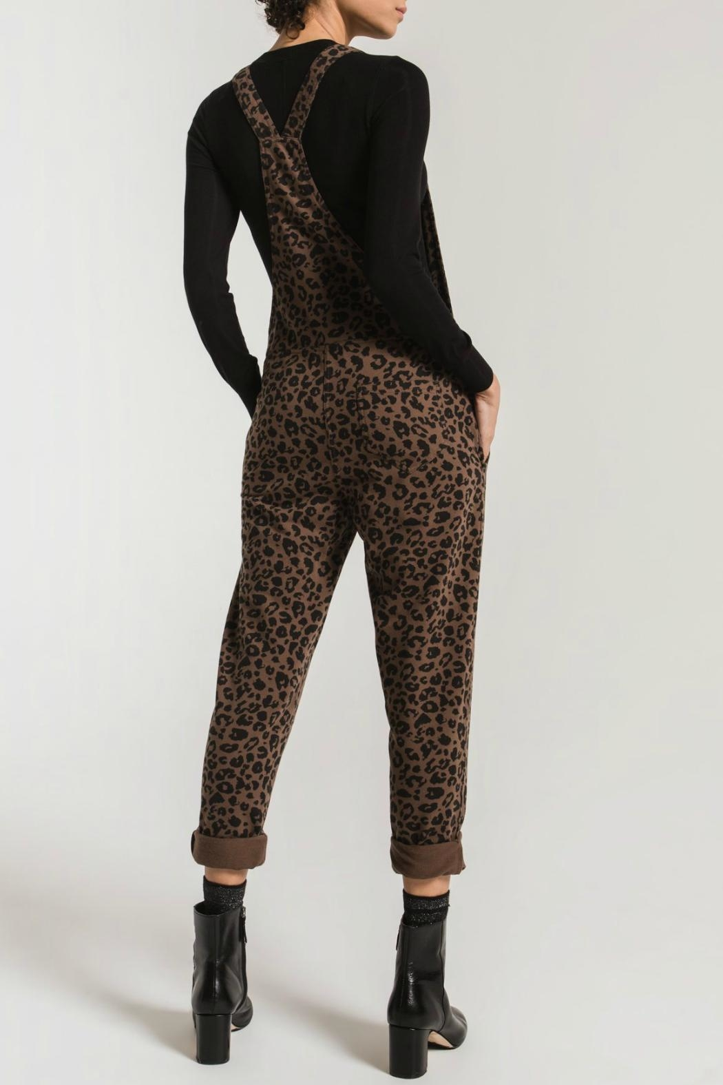 z supply The Leopard Overalls - Front Full Image