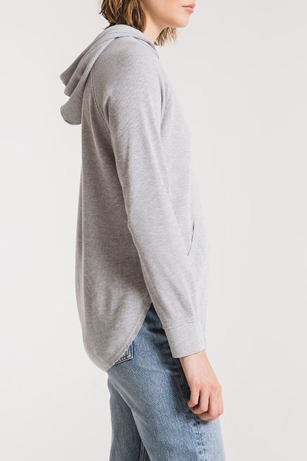 z supply Thermal Hooded Tunic - Side Cropped Image