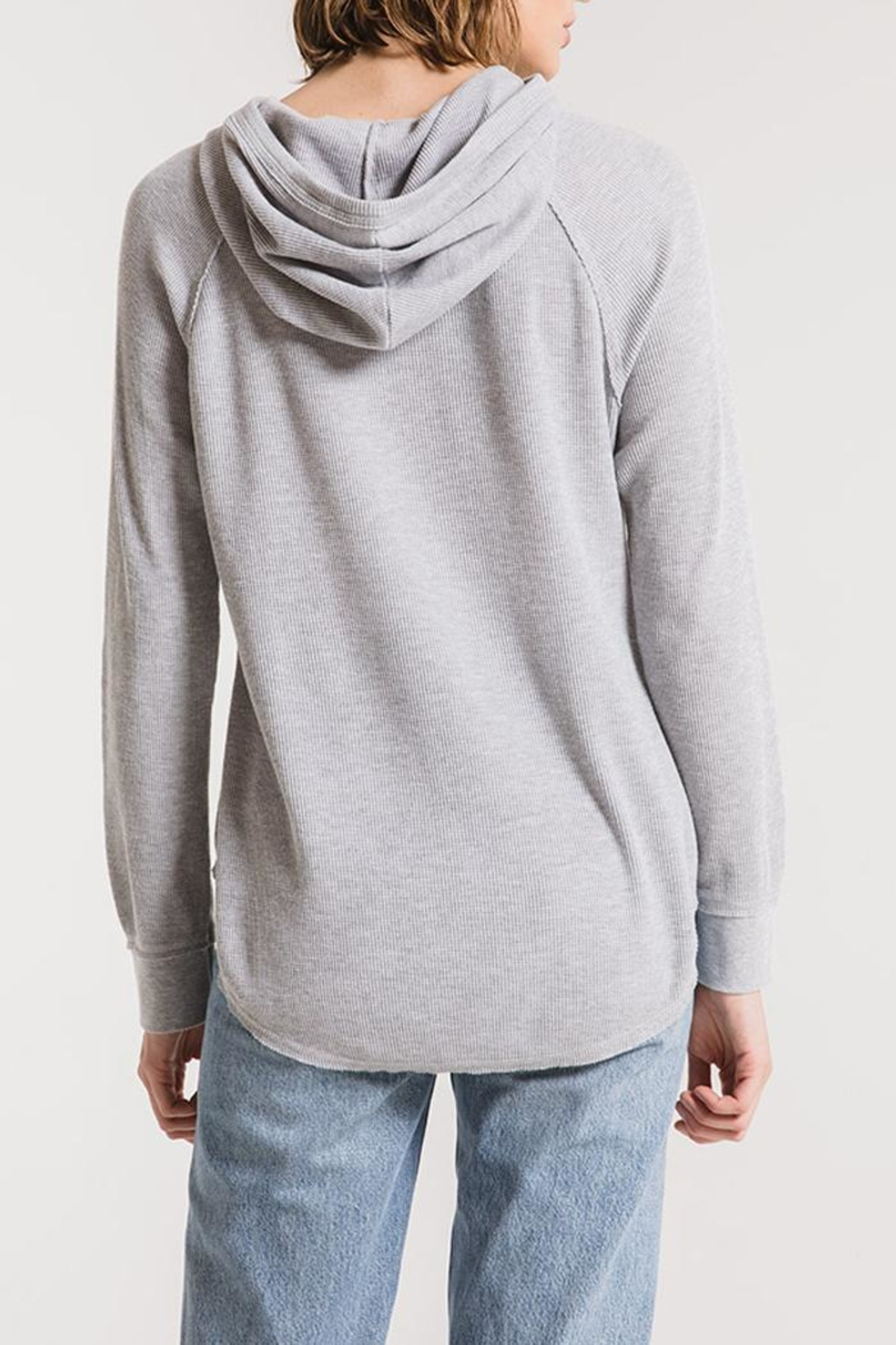 z supply Thermal Hooded Tunic - Back Cropped Image