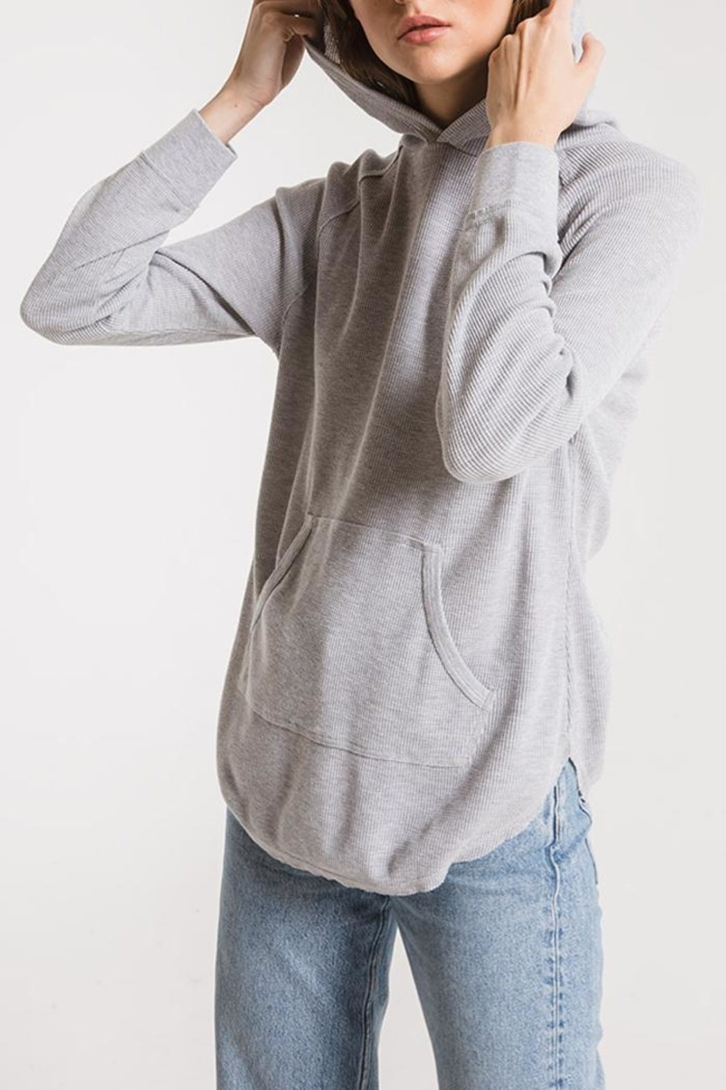 z supply Thermal Hooded Tunic - Front Full Image