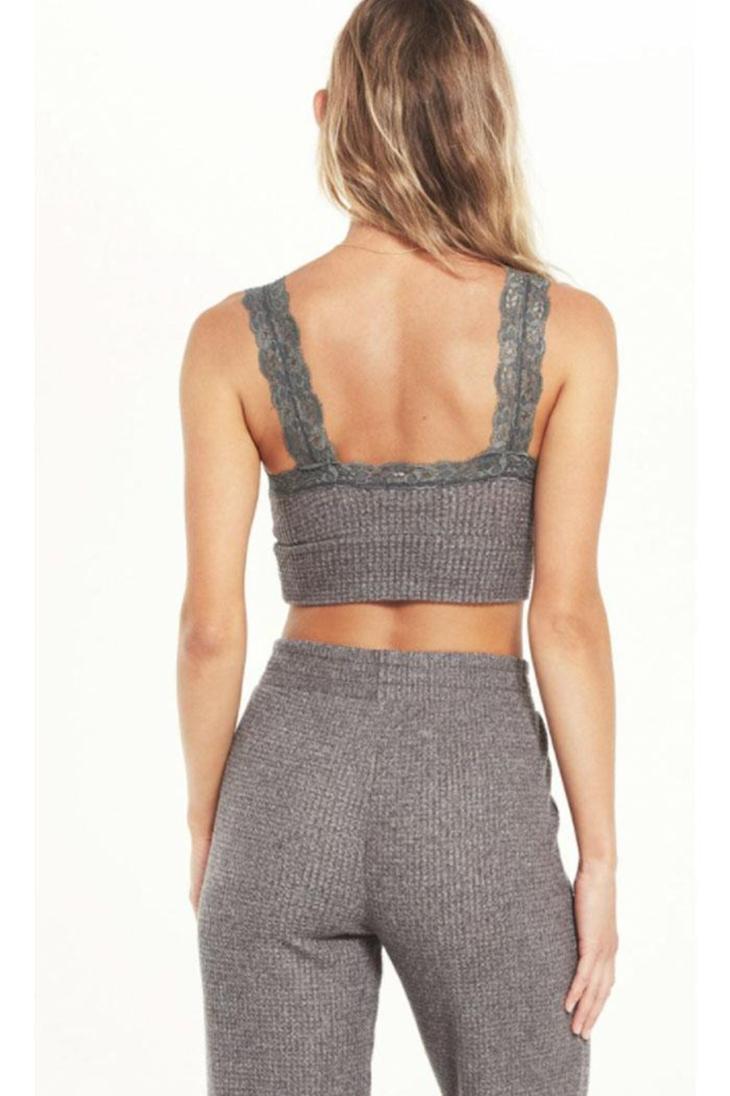 z supply Thermal Lace Bra - Side Cropped Image