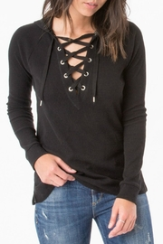 z supply Thermal Lace Up Sweater - Product Mini Image