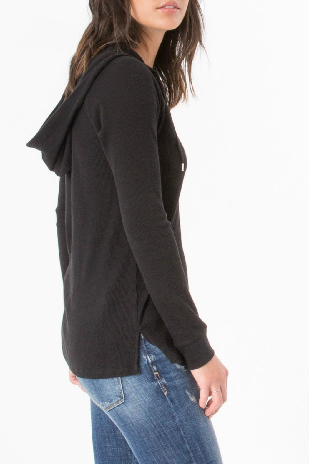 z supply Thermal Lace Up Sweater - Front Full Image