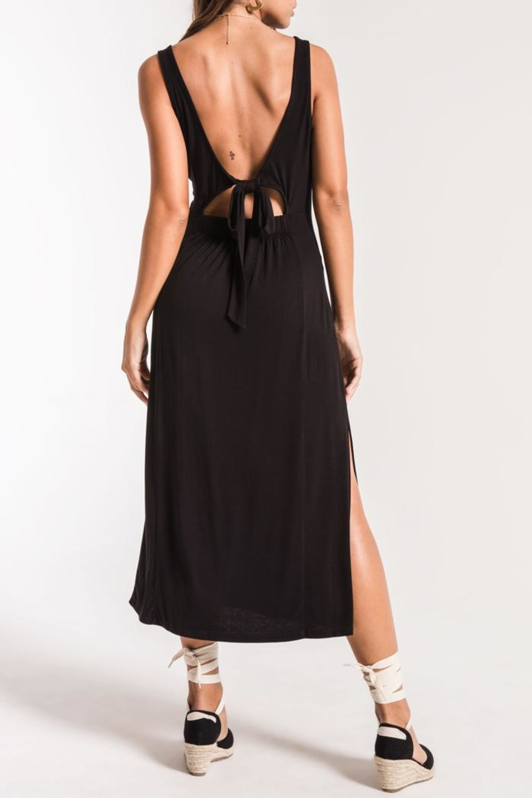 z supply Tie-Back Maxi - Back Cropped Image